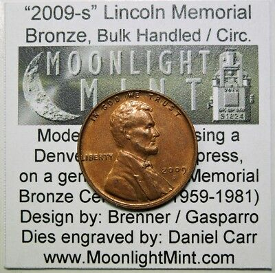 2009-S Dan Carr Overstrike Lincoln Memorial bulk handled SOLD OUT Moonlight Mint
