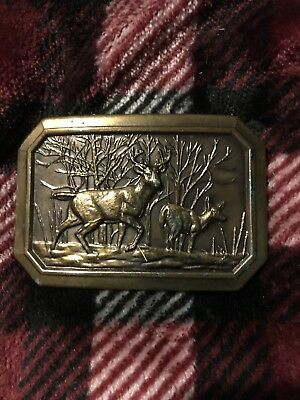 Deer Buck Belt Buckle Great American Buckle Co. Ltd. Ed. Serial No. 520