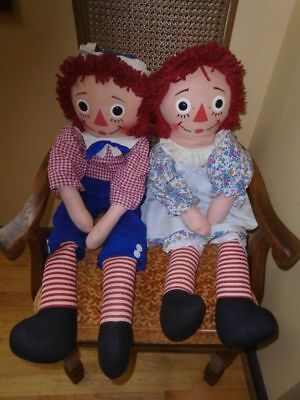 Raggedy Ann And Andy 32 Inch Knickerbocker 1970S Ex. Condition