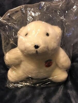 Coca-Cola Stuffed Polar Bear - 1993 - New in plastic - Adorable!