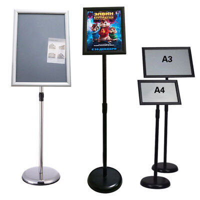 Outdoor Waterproof Sign Holder Water Filled Base Snap Frame Pavement Sign Stand