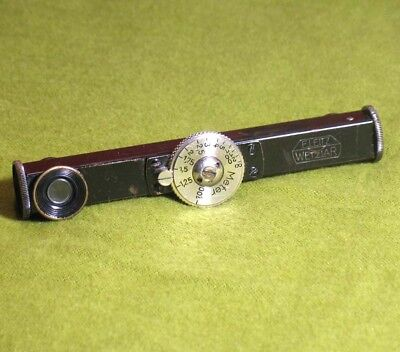 "1930s E Leitz Leica Black and Nickel Rangerfinder ""Meters"" FODUA Range Finder"