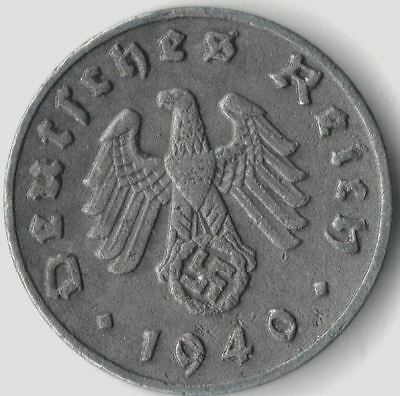 Rare Old Vintage German WWII Military Army Navy Nazi Germany War Collection Coin