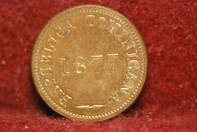Dominican Republic, 1877 Centavo, KM3, UNC, Or Best Offer,                   612