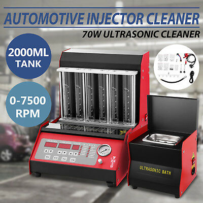 TQ-6C Fuel Injector Cleaner Tester W/Cleaning Tank Injection Petrol Motorbike
