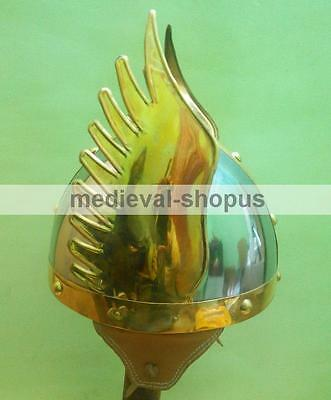 Viking Medieval Norman Knight Winged Helmet Armor King Armour Larp Costumes New