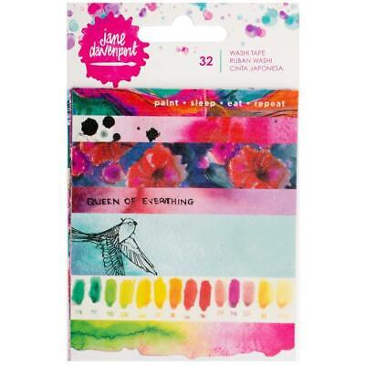 Jane Davenport Washi Tape Sheets Book - 5 Sheets Paint Phrases