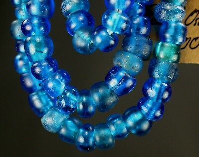 91)Rare Native American Translucent Red Padre Old Trade Beads Indian Oregon 23''