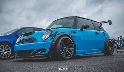 BMW Mini Cooper s R53 R56 1.6 Side Skirt Splitter Extension Lip Spoiler