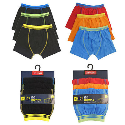 kids / boys boxer kids funky color boxer shorts Trunks 3 pack