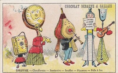 very rare 1890's Victorian Trade Card Anthropomorphic Veggie people objects