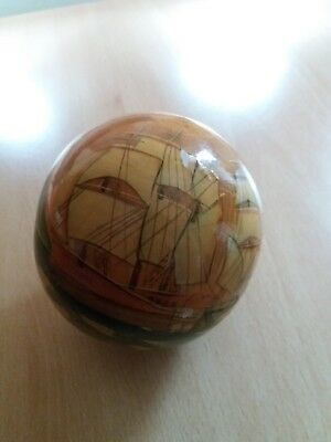 Wooden Balls Hand Painted ( 1 Main Ball Plus 4 Inside ) Russian Doll Type