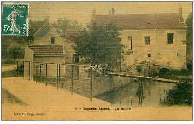 02 .N°38783.gandelu.le moulin.carte toilée.pas courante