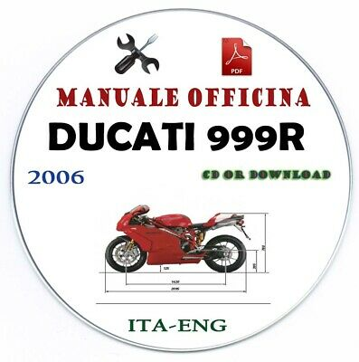 Manuale Officina Ducati 999 R 2006 Workshop Manual Repair Service Riparazione
