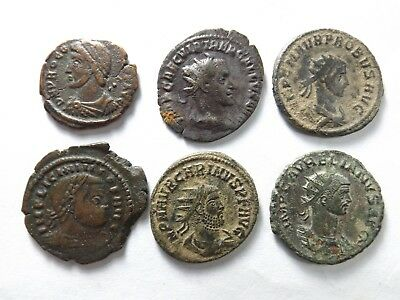 Lot of 6 Higher Quality Ancient Roman Coins; Procopius, Trebonus...; 18.0 Grams!