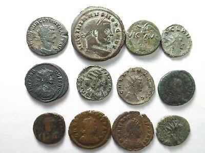 Lot of 12 Quality Ancient Roman Coins; Quintillius, Gallus...; 46.8 Grams!