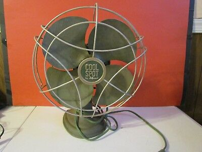 "Antique 10"" Oscillating Industrial Electric Desk Fan Cool Spot by Signal"