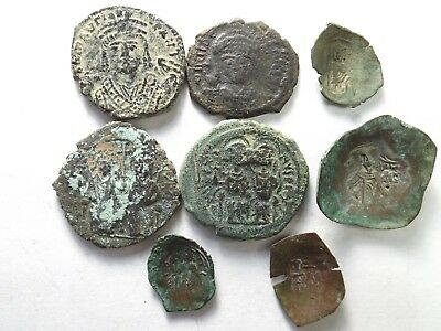 Lot of 8 Quality Ancient Roman Byzantine Coins: 46.9 Grams!