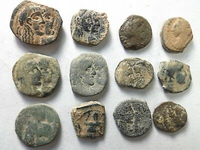 Lot of 12 Quality Ancient Nabataean Coins: 28.8 Grams!