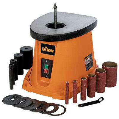 Triton Oscillating Spindle Sander Rotating And Bobbin Wood 450W Tsps450