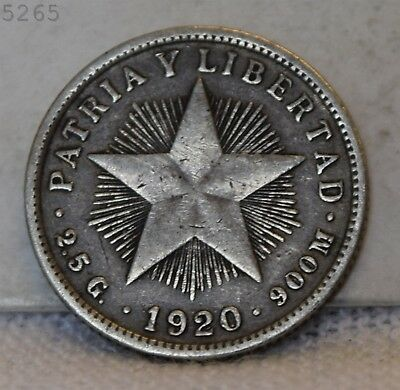 1920 *Silver* Patria Y Libertad 10 Centavos *Free S/H After 1st Item*