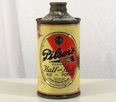 Pilser's Half&half Ale+Porter Irtp Jspout Cone Top Beer Can New York City Nyc Ny