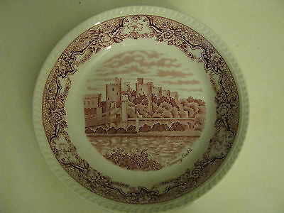 Historic Castles Ridgeway England Bowl Conway Castle Red on White