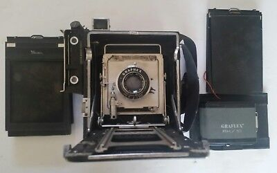 Vintage Graphex Speed Graphic Camera with Wollensak Graphlex Optar Lens and More