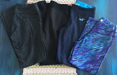 Lot of 4 Hollister, Puma, Kyodan, Faded Glory Juniors Leggings Size Small