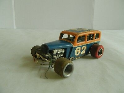 Vintage slot car, Plymouth bodied jalopy style slot car