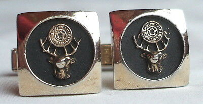 Pair Of Vintage Gold Tone Bpoe Elks Bullet Back Cufflinks Pat Pend Guc