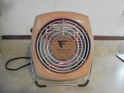 Vintage Retro Fresh'nd-Aire Heaterette Heater & Fan Model 1320 Tan-Works Fine