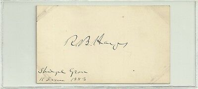Rutherford B Hayes autograph 1883