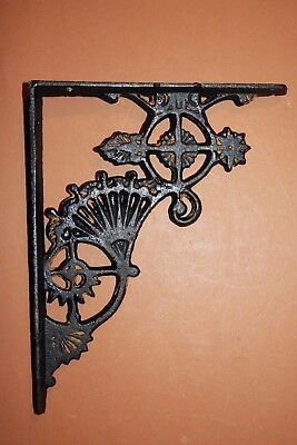 "(10), Vintage-look Black Shelf Brackets, Victorian Fan, Black Fan, 8 1/2"", B-47"