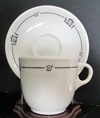 21 Club Iron Gate New York City Night Club Restaurant China Coffee Cup & Saucer