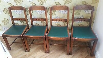 Art Deco Vintage 1930's Oak Dining Chairs