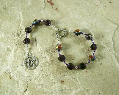 PENTACLE MEDITATION BEADS for Witches and Pagans, Prayer Beads, Rosary
