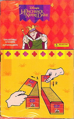 The Hunchback Of Notre Dame Panini Disney Factory Sealed Sticker Box 100 Packs