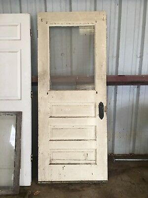 Antique Entry Door With Glass