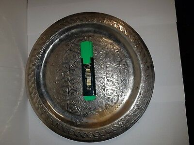 Antique islamic Engraved copper plate  very  old