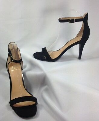 7a26695db89 Material Girl Blaire Women Shoes Black Two Piece Ankle Strap Dress Sandals  9 M