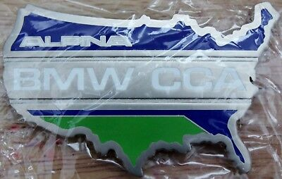 RARE! Official BMW CCA BMW Car Club of America ALPINA Grill Badge Emblem RARE!
