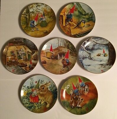 Lot of 7 Legends of the Gnomes Decorative Plates by Rien Poortvliet 1983