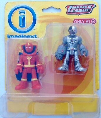 Imaginext DC Super Friends Justice League CYBORG & RED TORNADO 2 PACK EXCLUSIVE