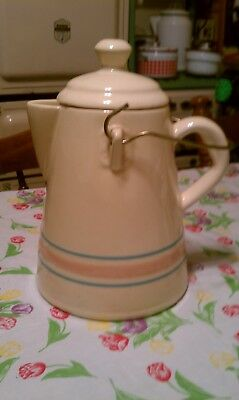 Mccoy Pink And Blue Coffee Pot
