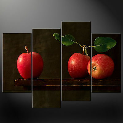 Red Apples Vintage Kitchen Art Cascade Canvas Print Ready To Hang