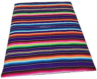Large Mexican Blanket - Authentic Mexican Blanket 5' X 7'- Serape Blanket - -