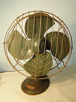 Vintage Heavy Dominion Electric Fan Model 2015 Oscillating WORKS