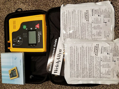 Welch Allyn AED10 2 sets of Defibrillation pads New battery CD