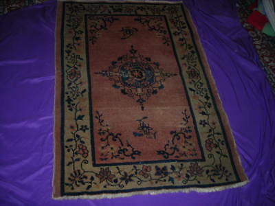 2018 Clearance Sale! Shabby Chic Antique 1930's Chinese Art Deco Rug 3X5